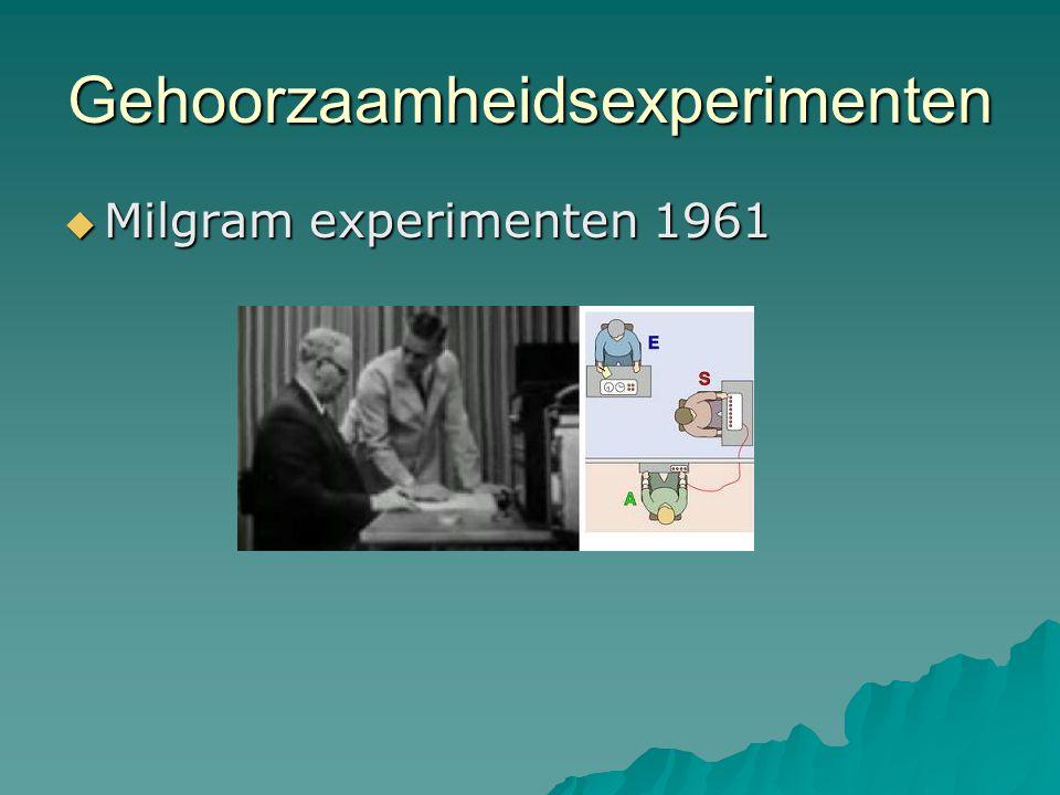 Gehoorzaamheidsexperimenten