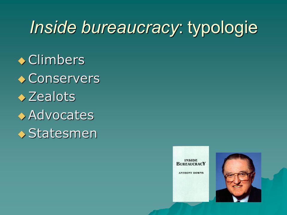 Inside bureaucracy: typologie