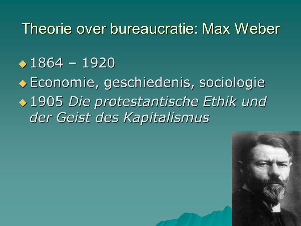 Theorie over bureaucratie: Max Weber