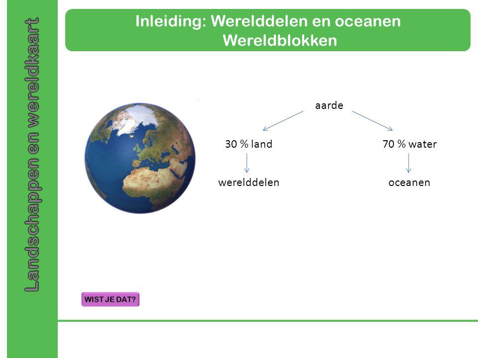 Inleiding: Werelddelen en oceanen Wereldblokken