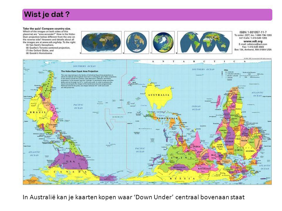 Wist je dat In Australië kan je kaarten kopen waar 'Down Under' centraal bovenaan staat