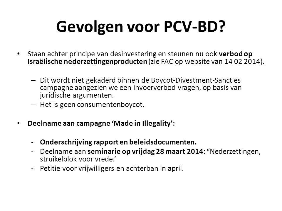 Gevolgen voor PCV-BD