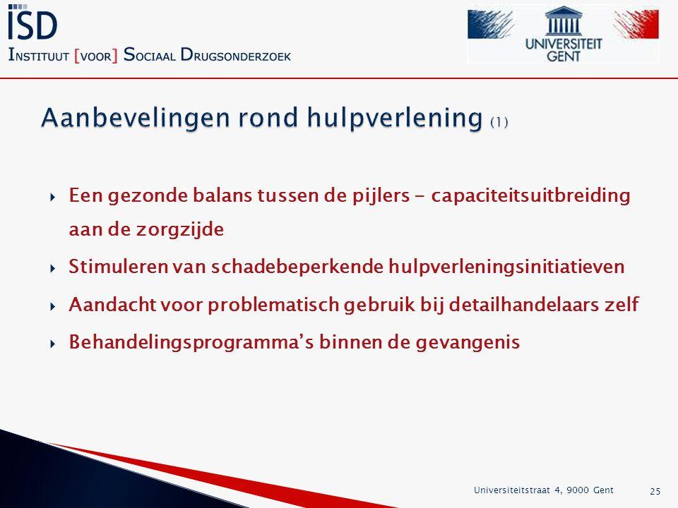 Aanbevelingen rond hulpverlening (1)