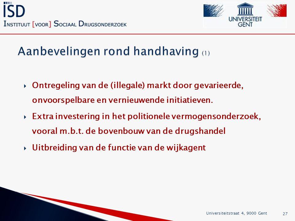 Aanbevelingen rond handhaving (1)