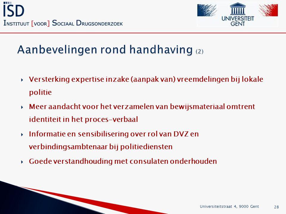 Aanbevelingen rond handhaving (2)