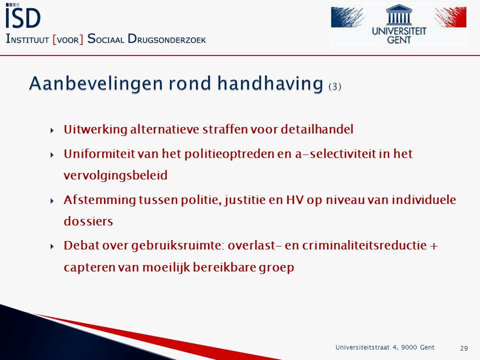 Aanbevelingen rond handhaving (3)