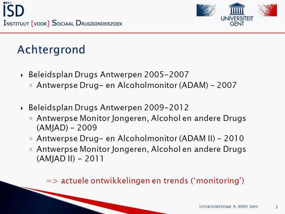 Achtergrond Beleidsplan Drugs Antwerpen 2005-2007