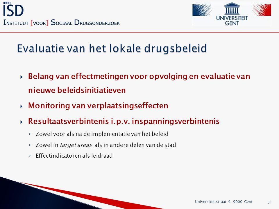 Evaluatie van het lokale drugsbeleid