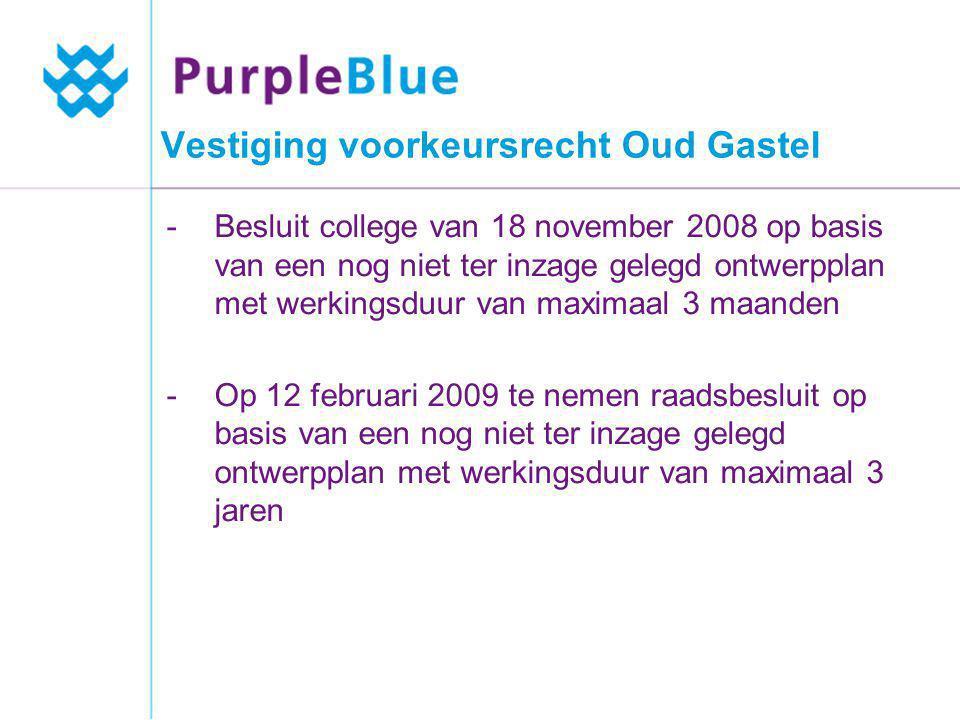 Vestiging voorkeursrecht Oud Gastel