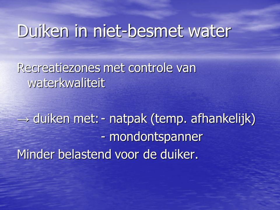 Duiken in niet-besmet water