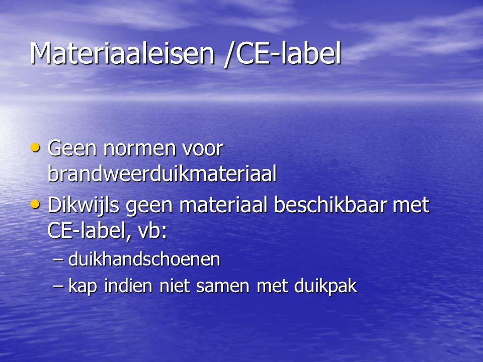 Materiaaleisen /CE-label