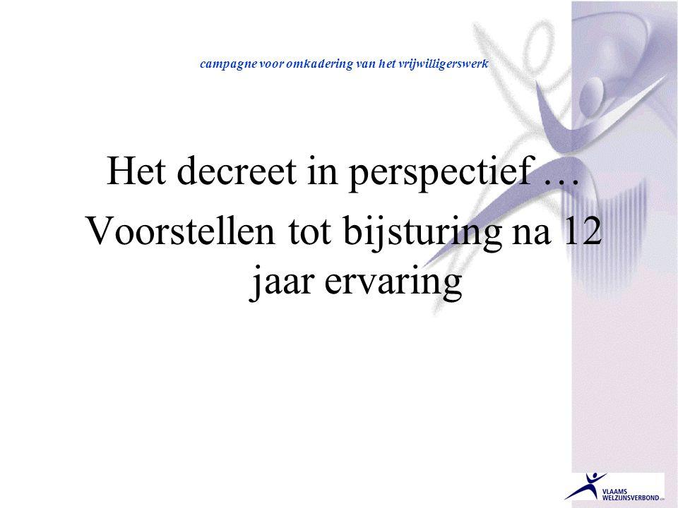 Het decreet in perspectief …