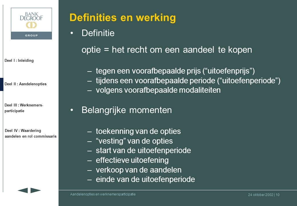Definities en werking Definitie
