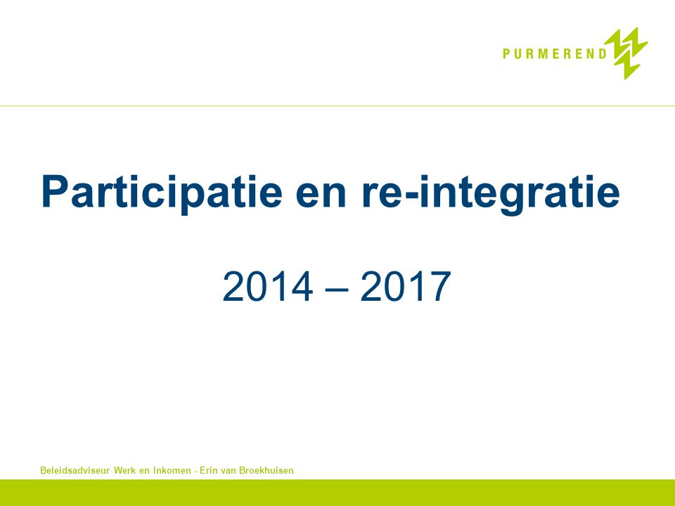 Participatie en re-integratie