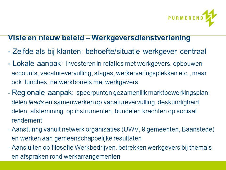 Visie en nieuw beleid – Werkgeversdienstverlening