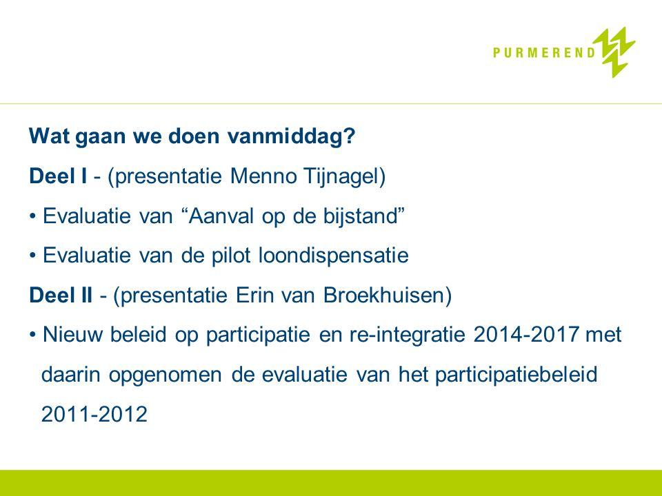 Wat gaan we doen vanmiddag Deel I - (presentatie Menno Tijnagel)