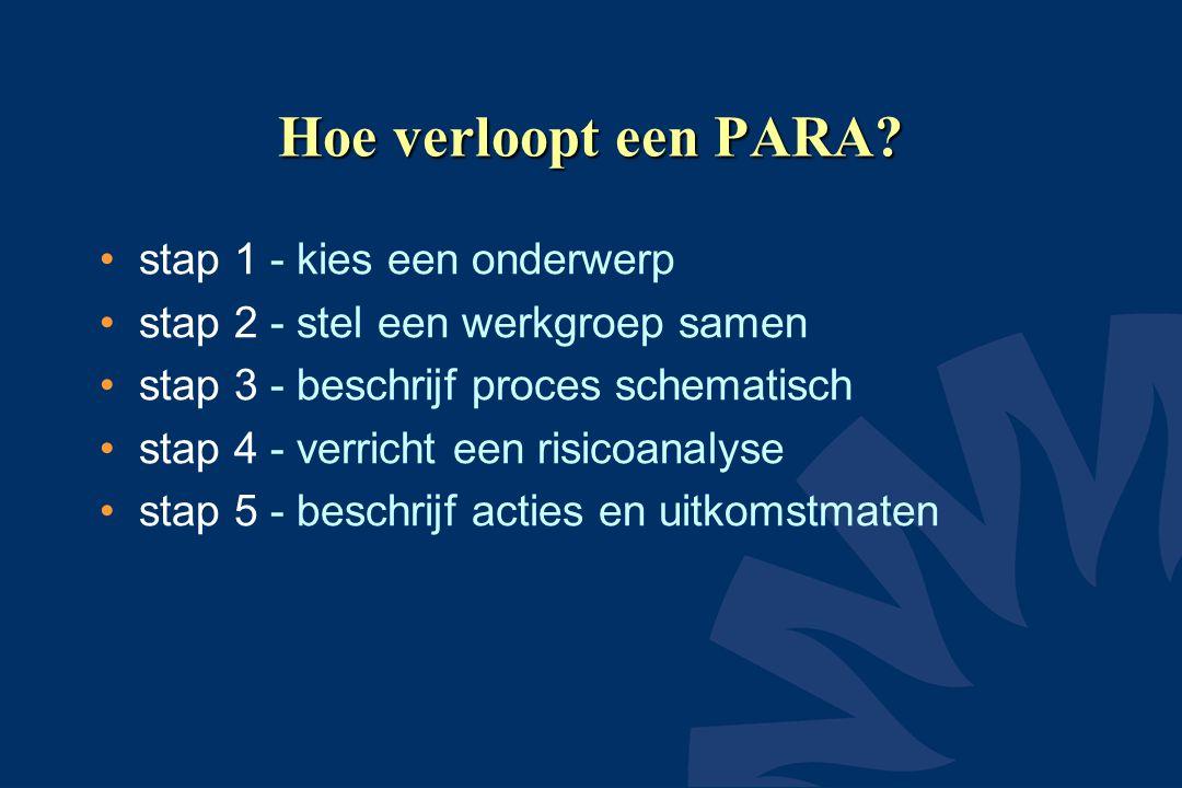 Hoe verloopt een PARA stap 1 - kies een onderwerp
