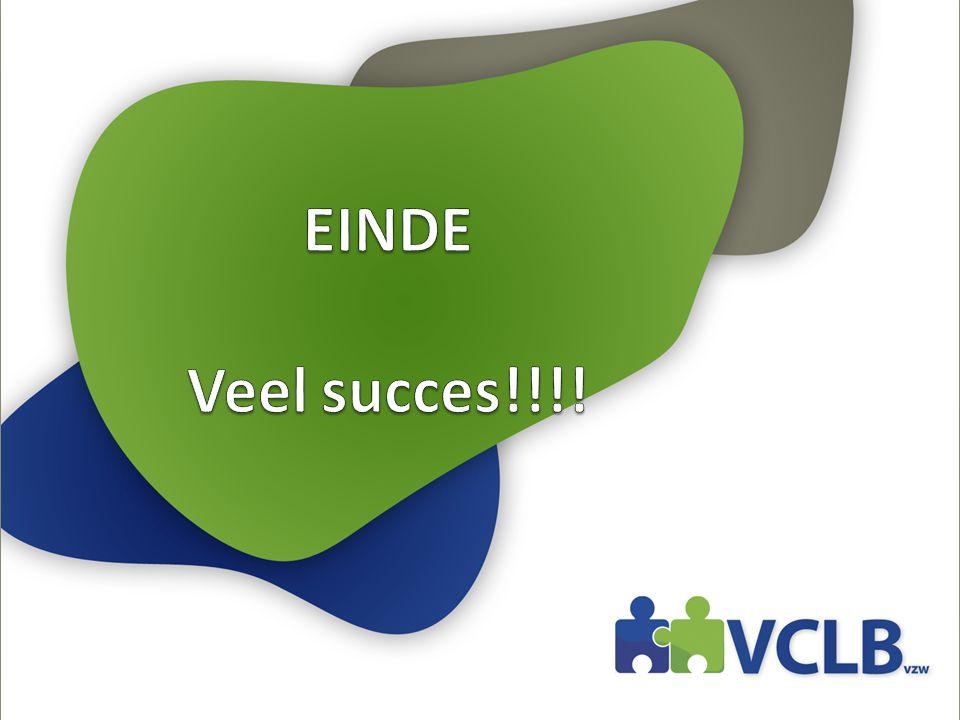 EINDE Veel succes!!!!