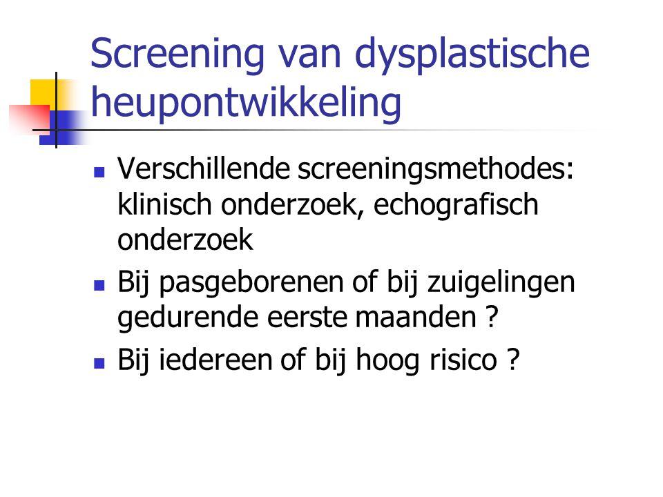 Screening van dysplastische heupontwikkeling