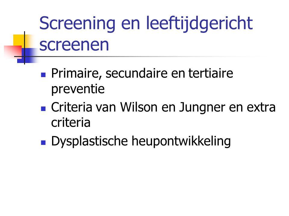 Screening en leeftijdgericht screenen