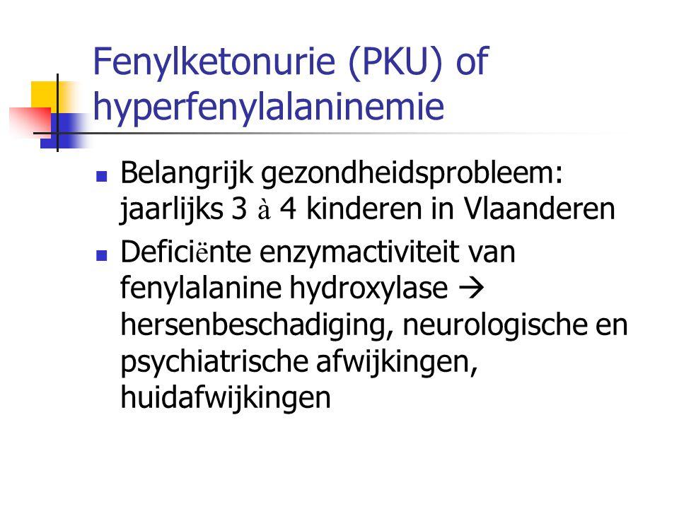 Fenylketonurie (PKU) of hyperfenylalaninemie