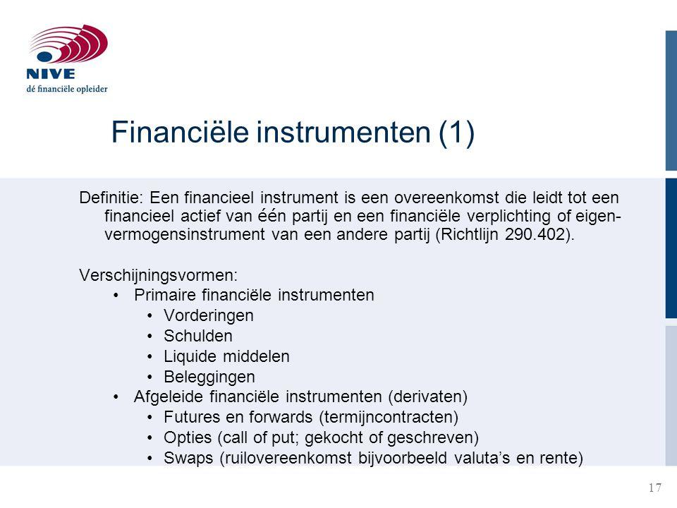 Financiële instrumenten (1)