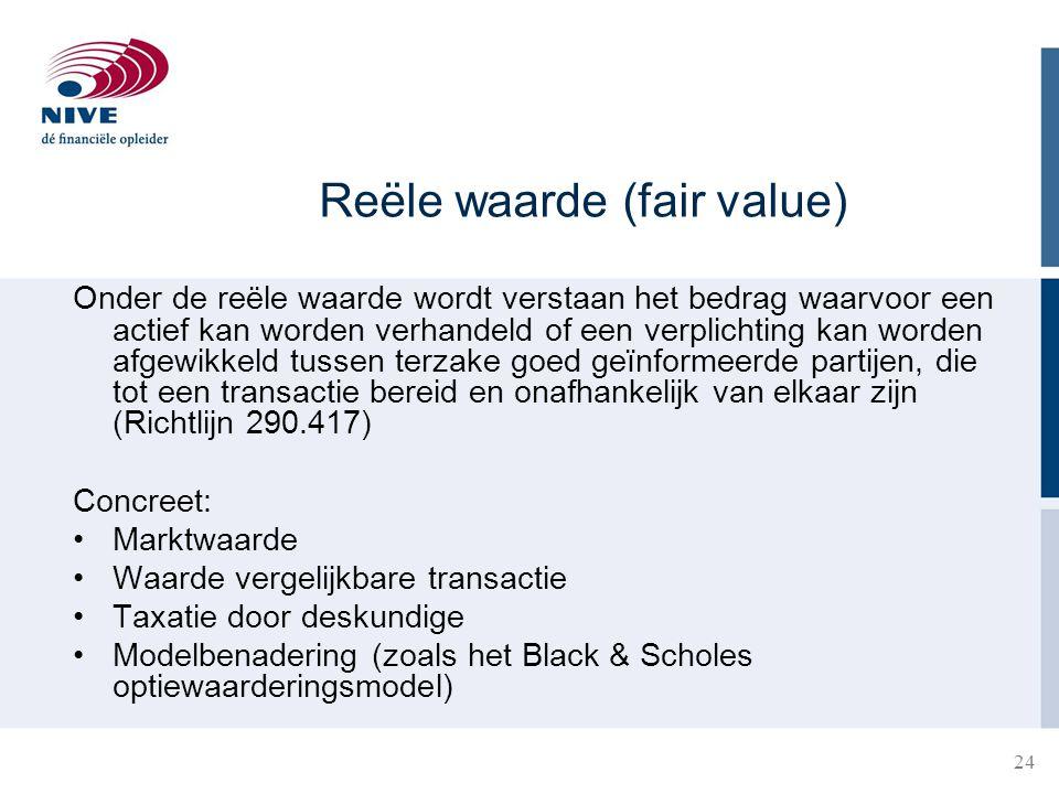 Reële waarde (fair value)