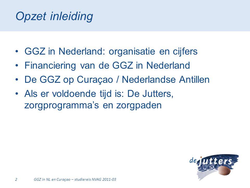 Opzet inleiding GGZ in Nederland: organisatie en cijfers