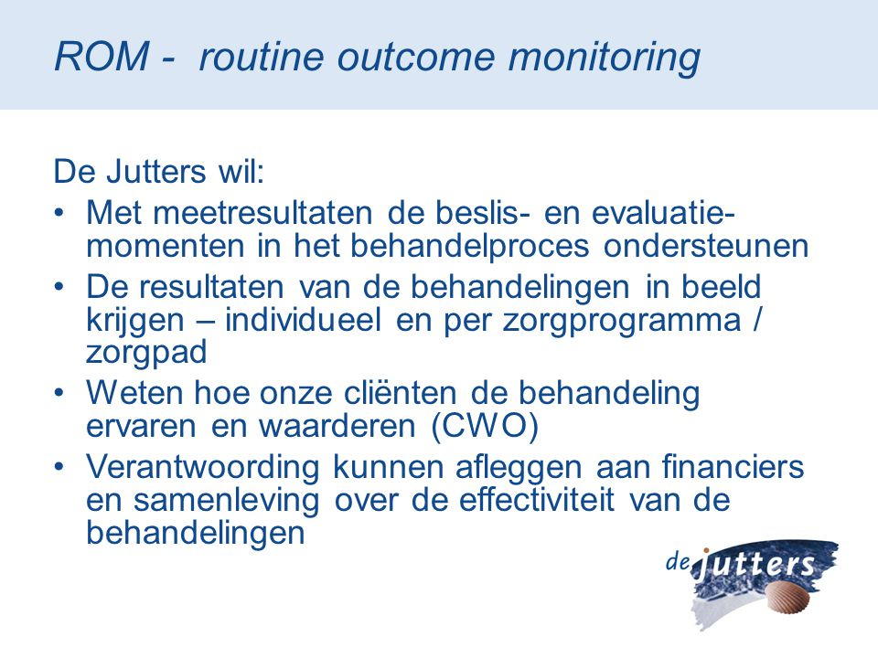 ROM - routine outcome monitoring