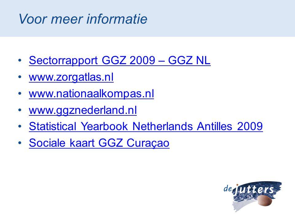 Voor meer informatie Sectorrapport GGZ 2009 – GGZ NL www.zorgatlas.nl