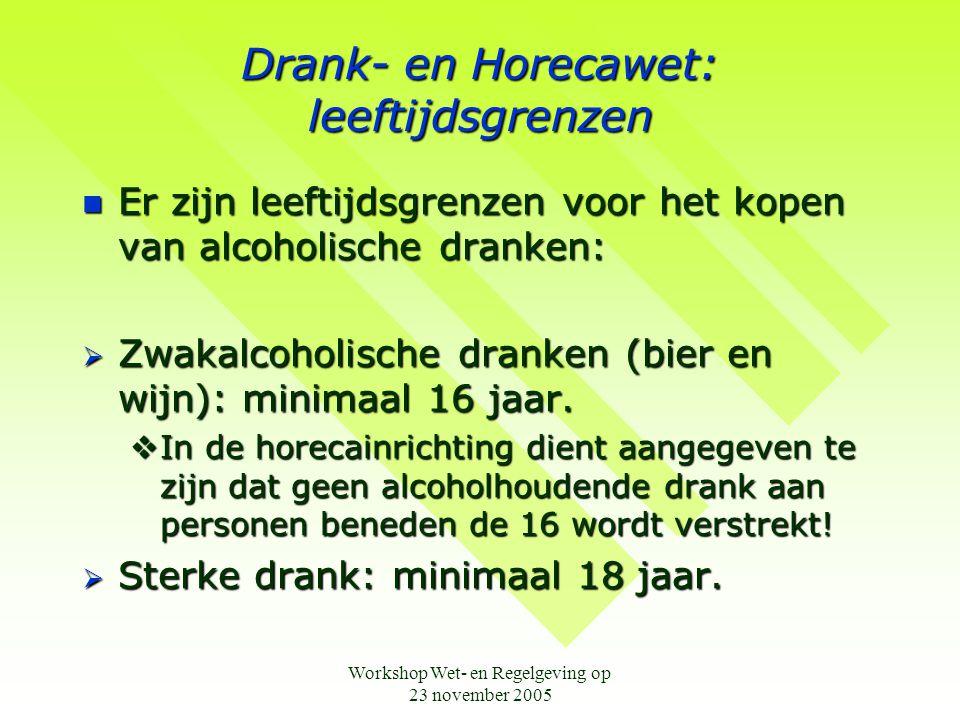 Drank- en Horecawet: leeftijdsgrenzen