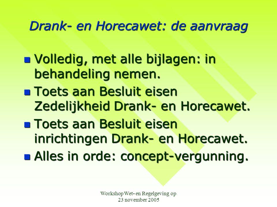 Drank- en Horecawet: de aanvraag