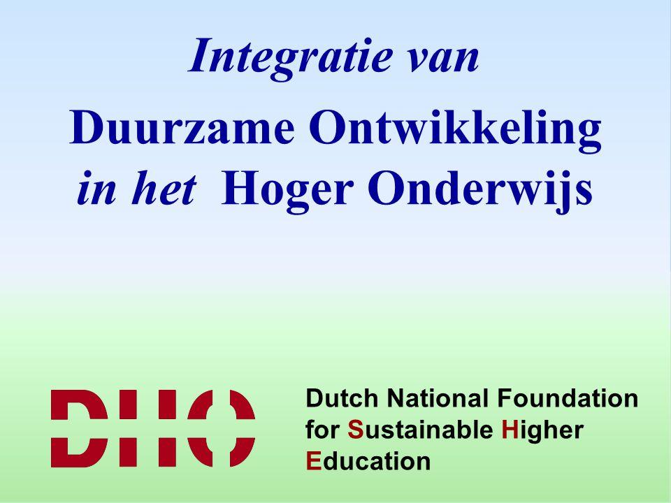 Duurzame Ontwikkeling in het Hoger Onderwijs