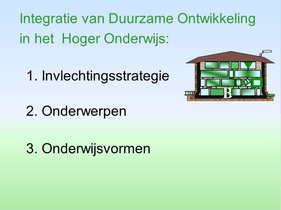 B Integratie van Duurzame Ontwikkeling in het Hoger Onderwijs: