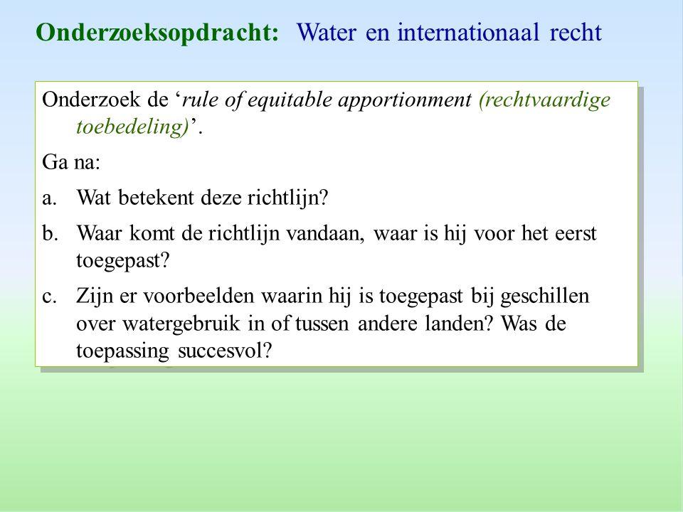 Onderzoeksopdracht: Water en internationaal recht