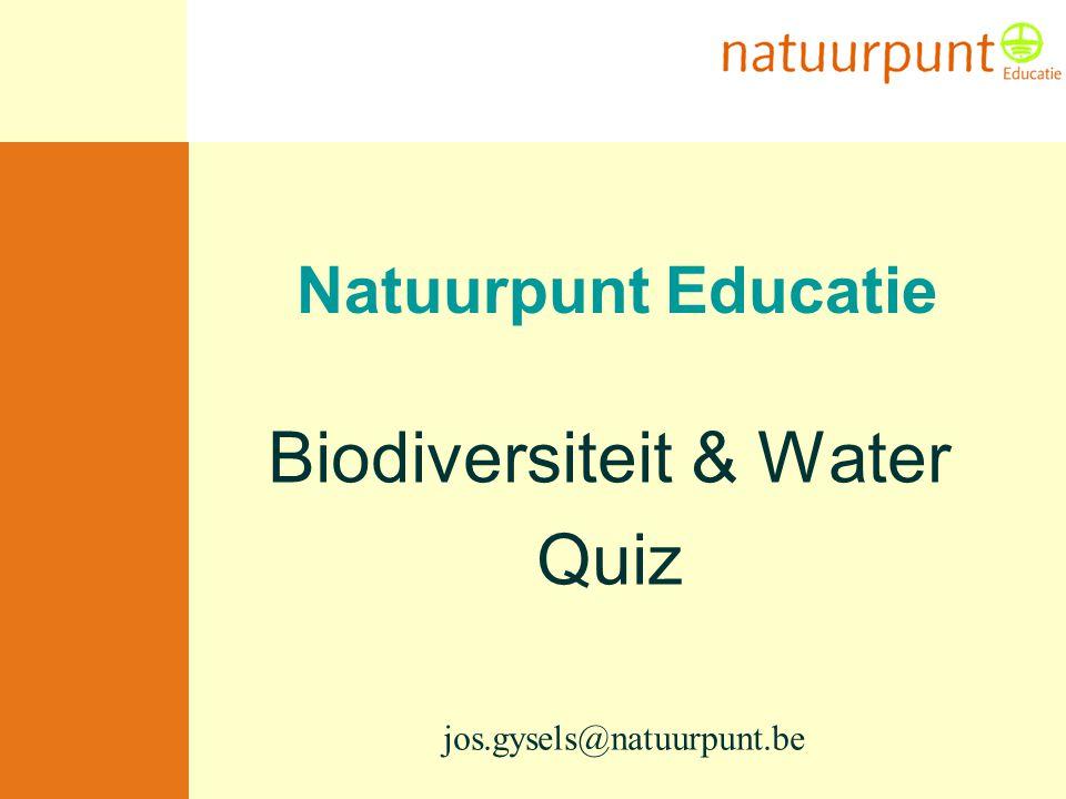 Biodiversiteit & Water Quiz