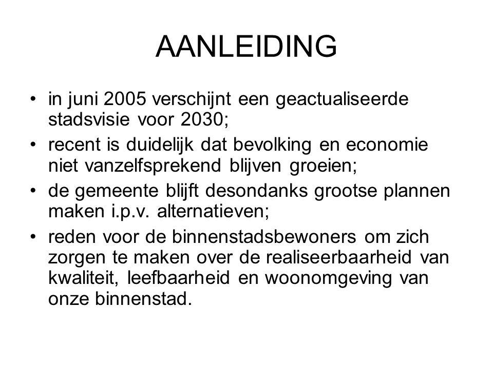 AANLEIDING in juni 2005 verschijnt een geactualiseerde stadsvisie voor 2030;
