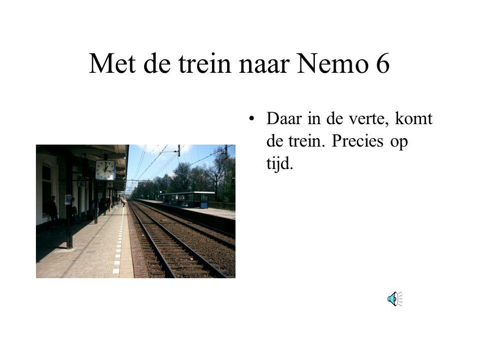 Met de trein naar Nemo 6 Daar in de verte, komt de trein. Precies op tijd.