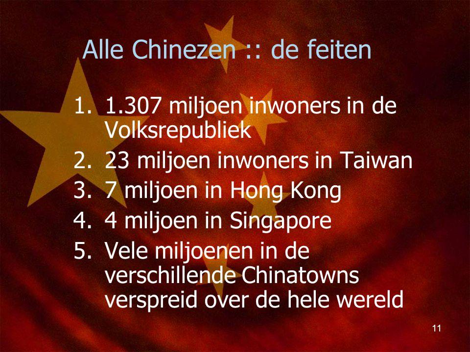 Alle Chinezen :: de feiten