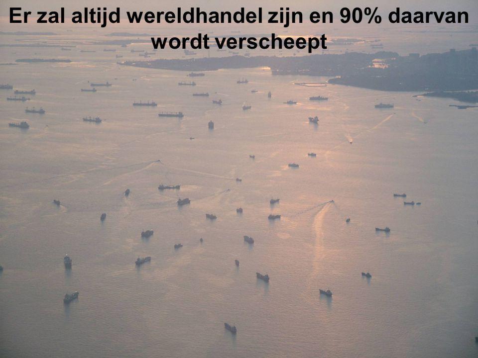 Er zal altijd wereldhandel zijn en 90% daarvan wordt verscheept