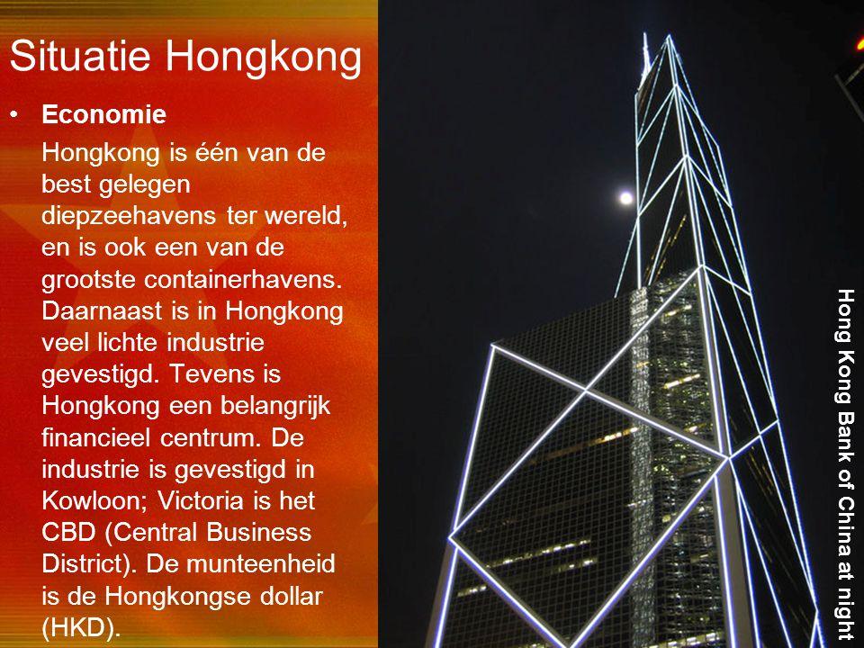 Situatie Hongkong Economie