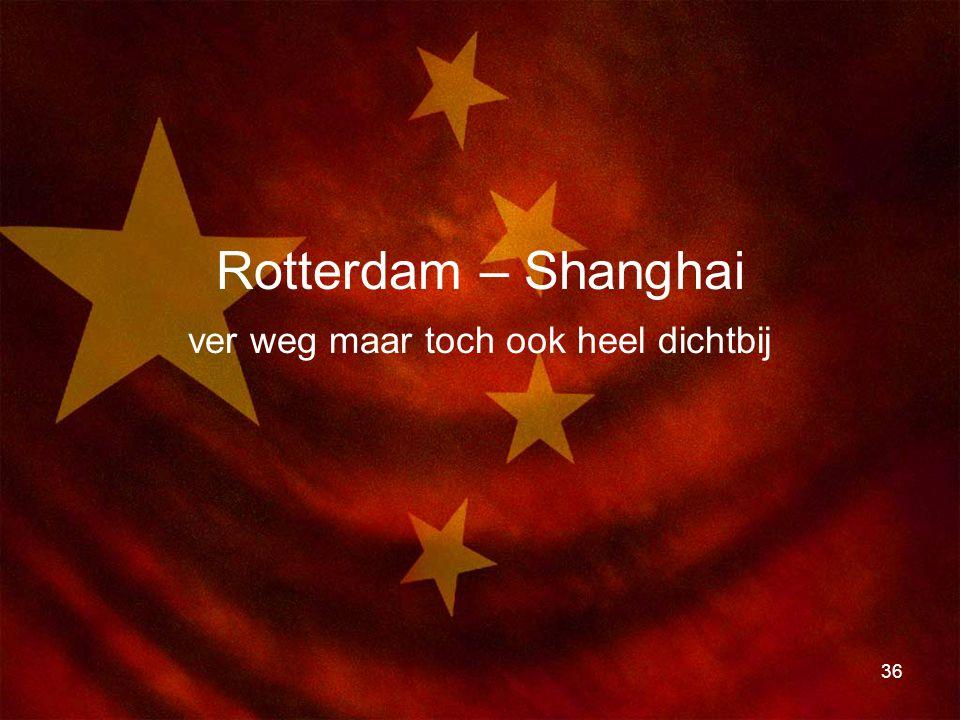 Rotterdam – Shanghai ver weg maar toch ook heel dichtbij