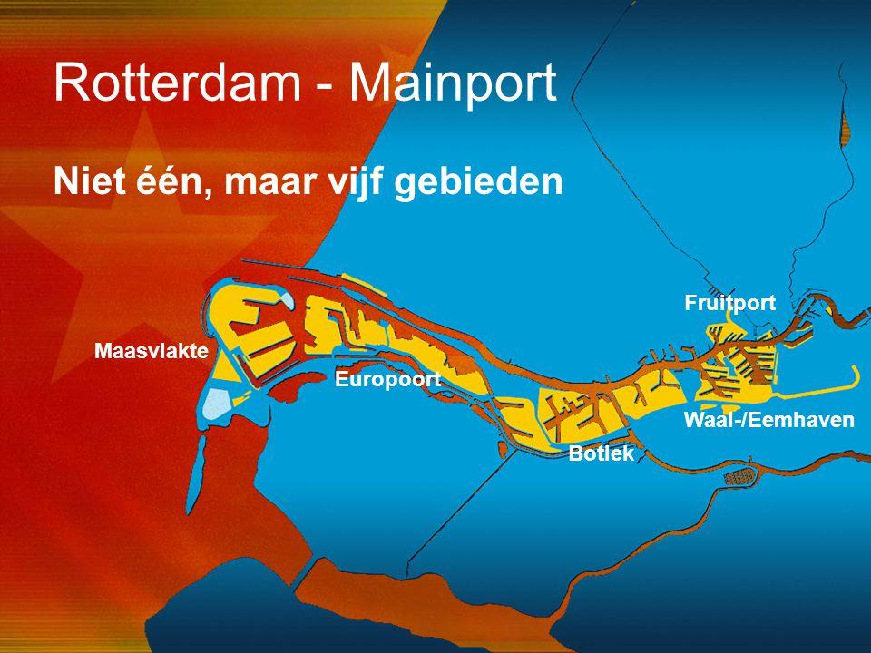 Rotterdam - Mainport Niet één, maar vijf gebieden Fruitport Maasvlakte