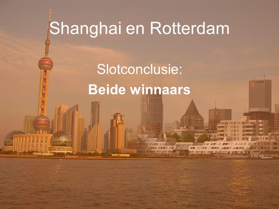 Shanghai en Rotterdam Slotconclusie: Beide winnaars In te vullen