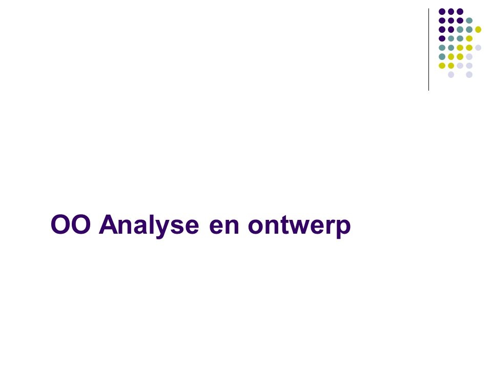 OO Analyse en ontwerp