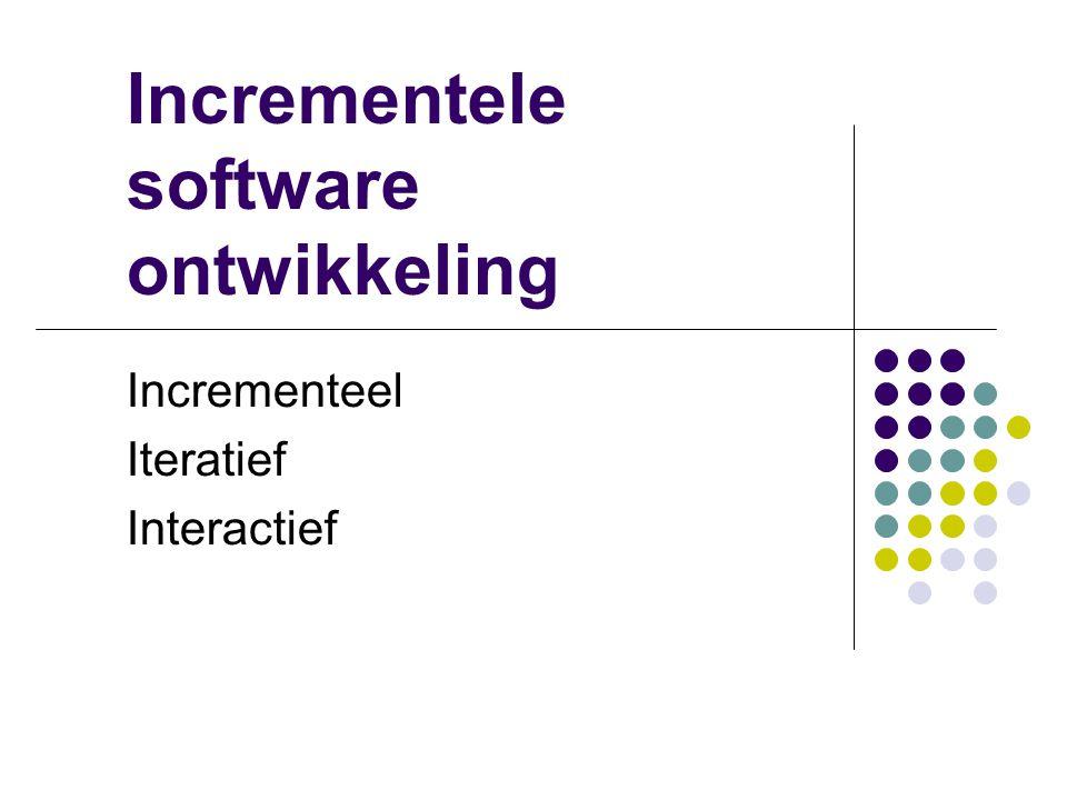Incrementele software ontwikkeling