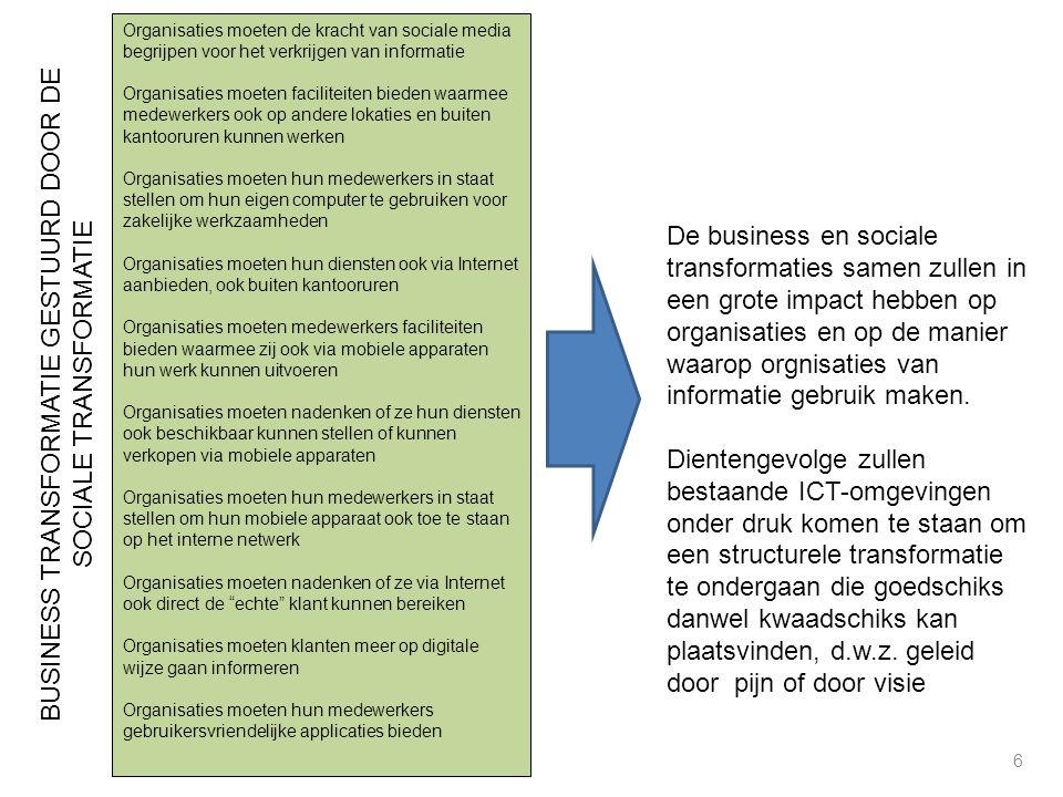 BUSINESS TRANSFORMATIE GESTUURD DOOR DE SOCIALE TRANSFORMATIE