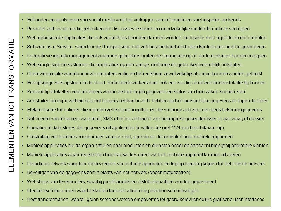 ELEMENTEN VAN ICT TRANSFORMATIE