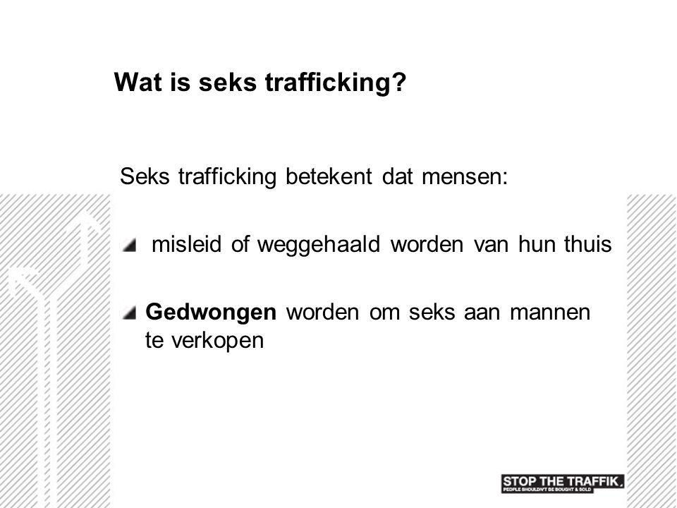 Wat is seks trafficking