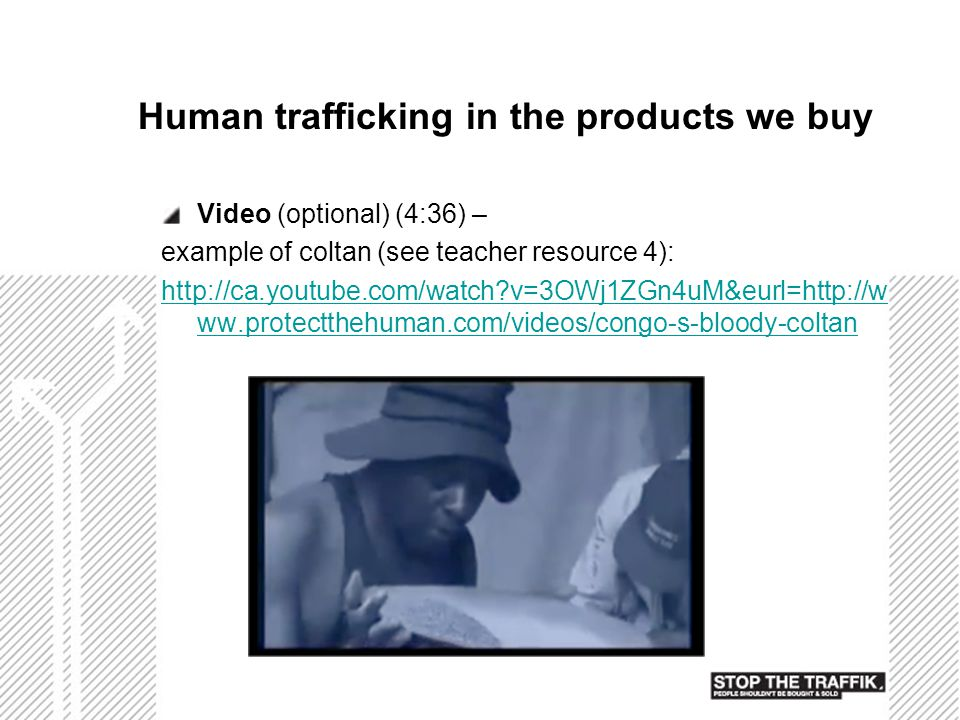 Human trafficking in the products we buy